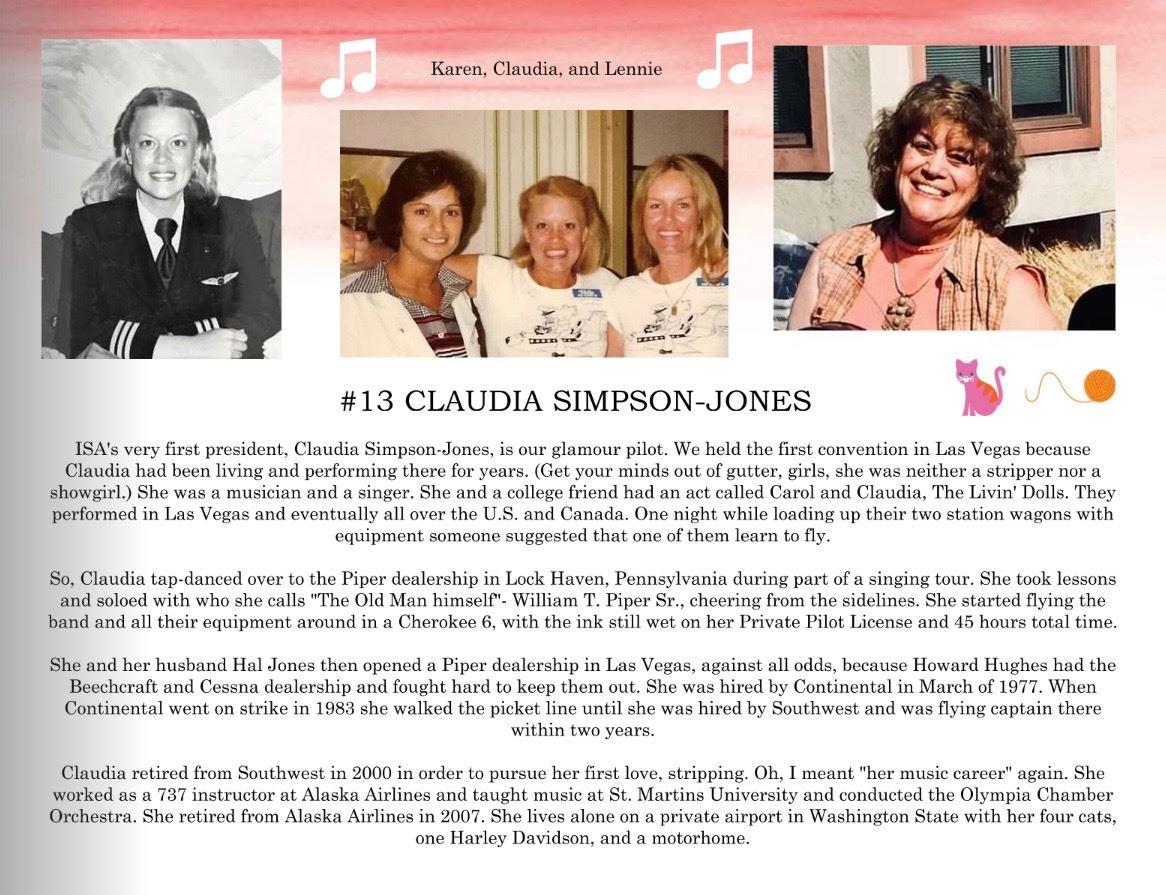 13. Claudia Simpson-Jones