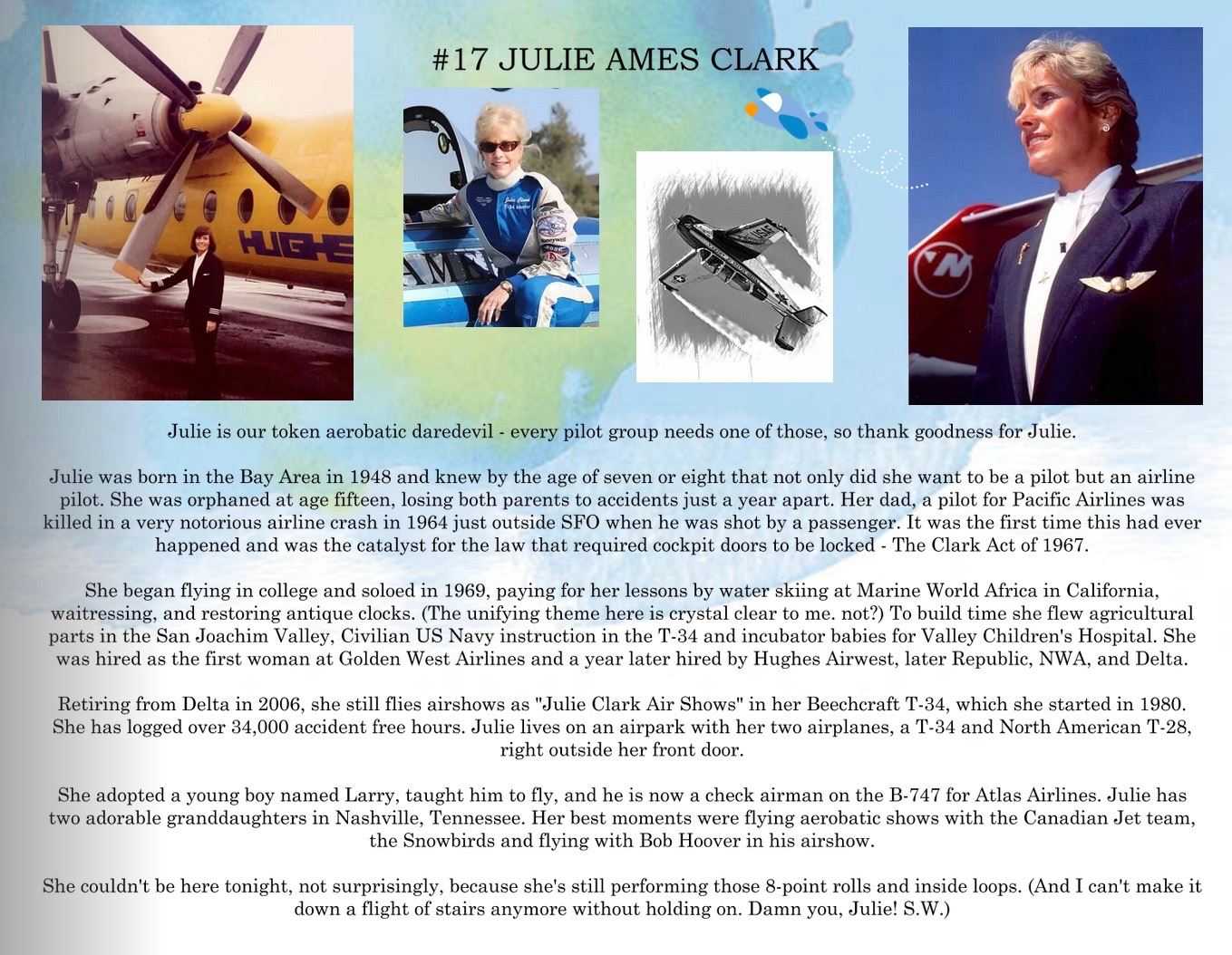 17. Julie Ames Clark