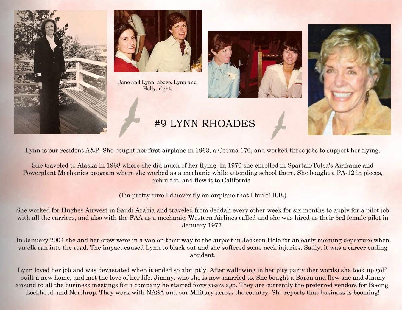 9. Lynn Rhoades