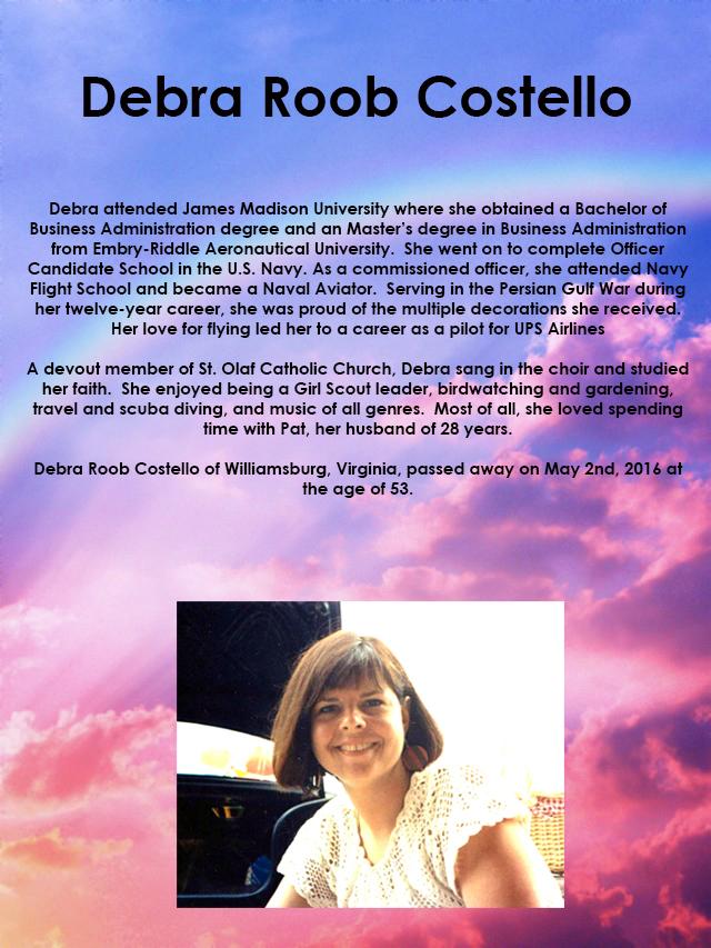 Debra Roob Costello Memorial